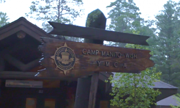 Camp manitowish sign in Wisconsin
